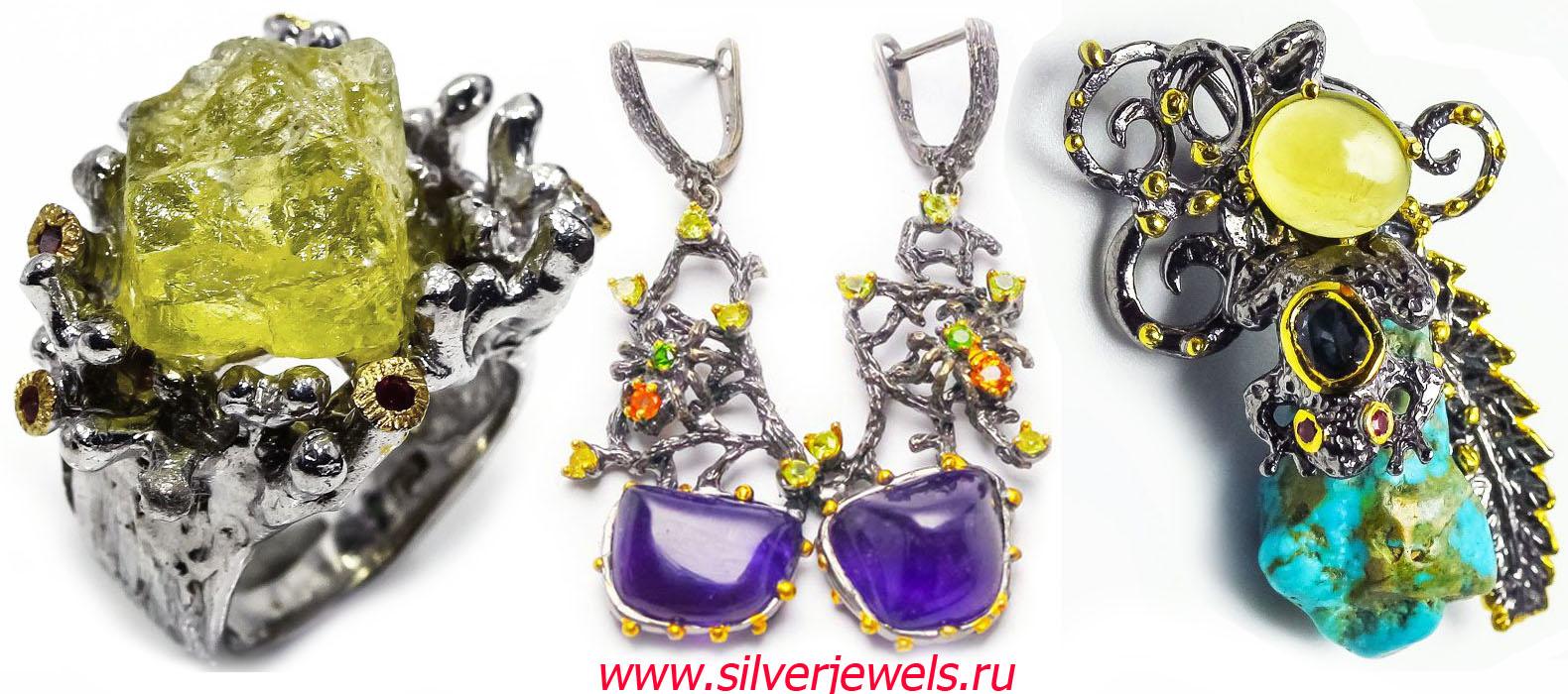 серебряные украшения silverjewels.ru ручная работа